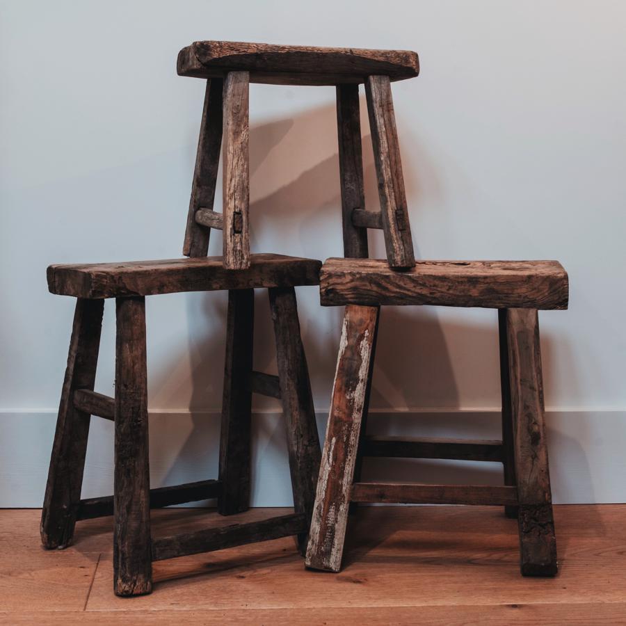 Unusual Furniture Pieces: Furniture & Unique Pieces : Vintage Small Elm Stool