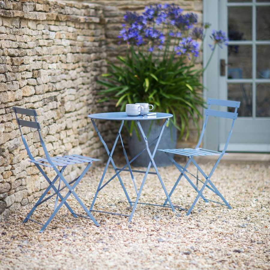 All Products : Outdoor Bistro Set Dorset Blue